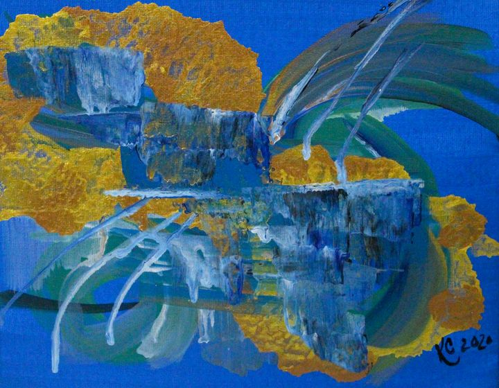 blue and gold 2 - KC art gallery