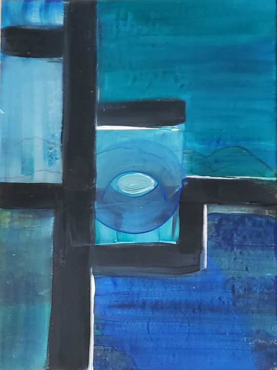The eye in the calm blue water - KC art gallery