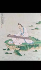 Traditional Chinese painting on silk - asian painting