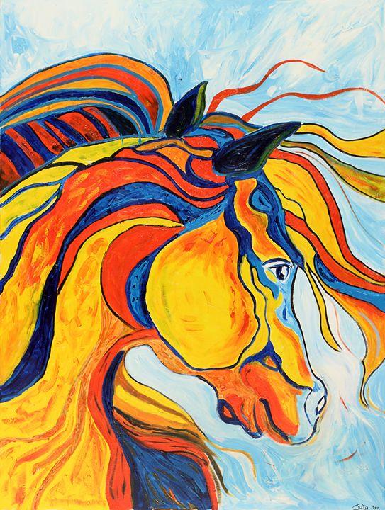 CRAZY HORSE - Spellbound Art by Julia Vigil