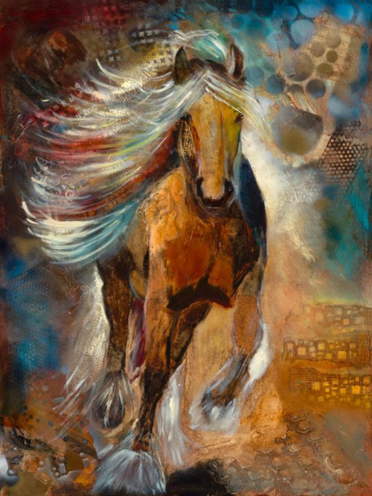 Horse Running - Spellbound Art by Julia Vigil