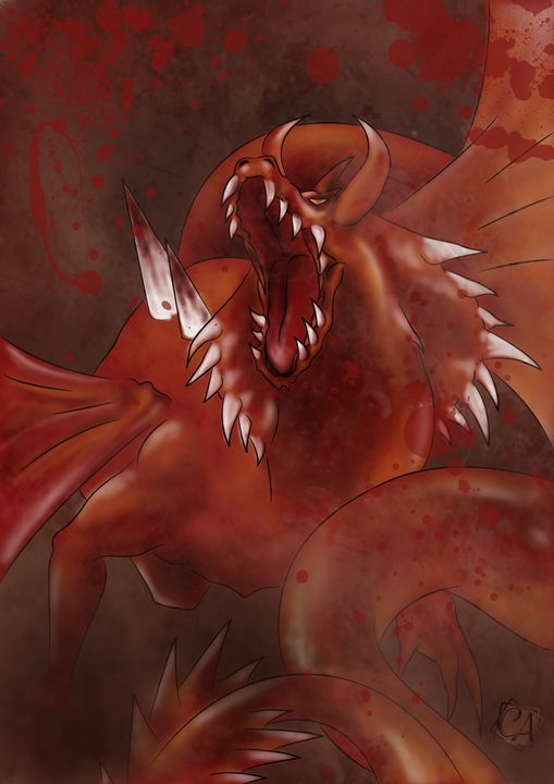RED DRAGON - Creation Art Graphic