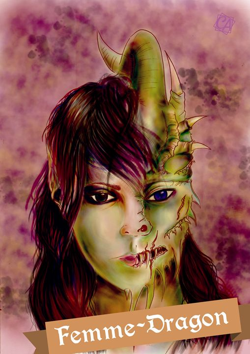 Dragon Woman - Creation Art Graphic
