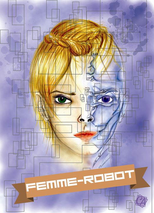 Robot Woman - Creation Art Graphic