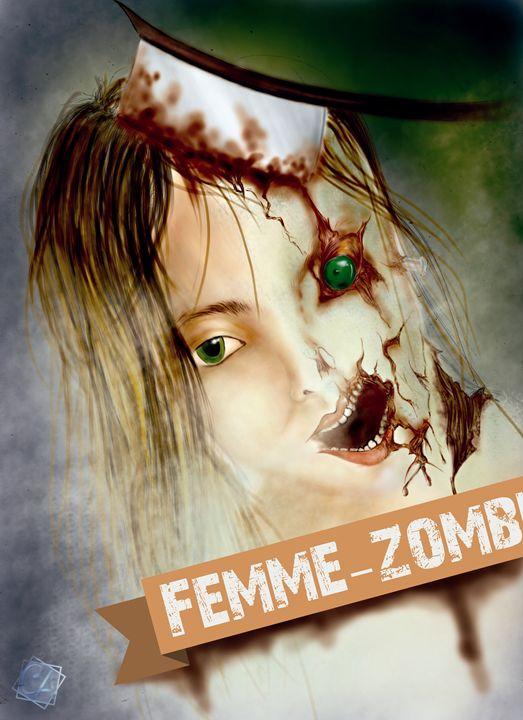 ZOMBIE WOMAN - Creation Art Graphic