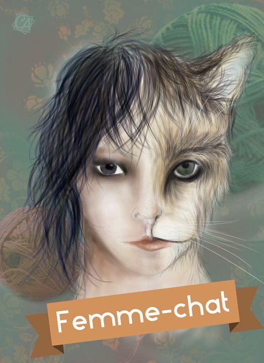 Cat Woman - Creation Art Graphic
