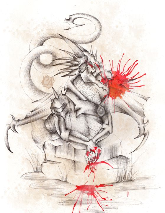 Dragon rocher - Creation Art Graphic