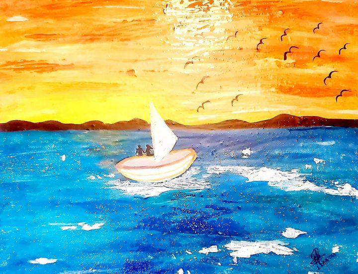 On the sea - Lou Lapetra Art
