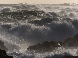 Wind blown sea
