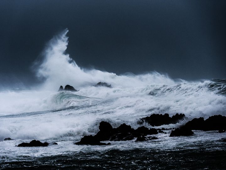 Wave Breaking in Storm - Mark Hill