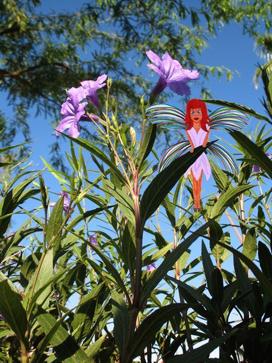 Purple Flower Fairy - Perpetiel Art