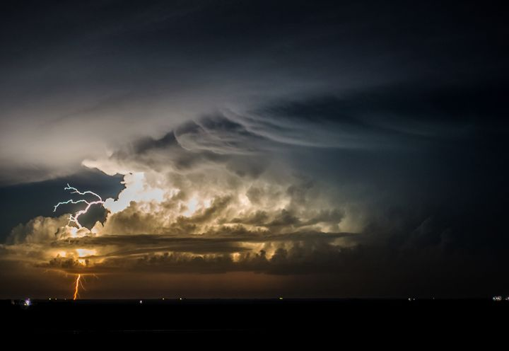 Active Night Storm - Mary Ann's Works of Art