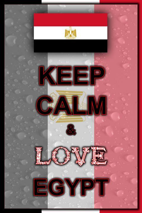 Keep Calm and Love Egypt - ArtDesign1978