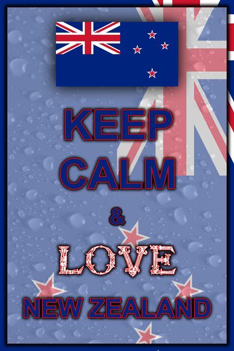 Keep Calm and Love New Zealand - ArtDesign1978