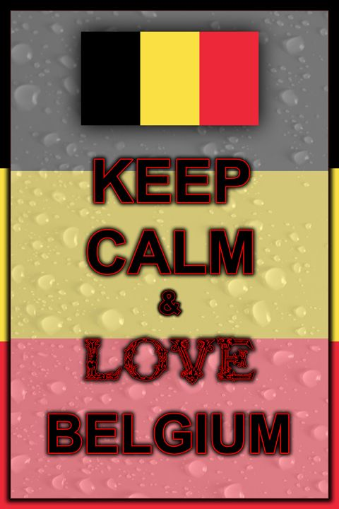 Keep Calm and Love Belgium - ArtDesign1978