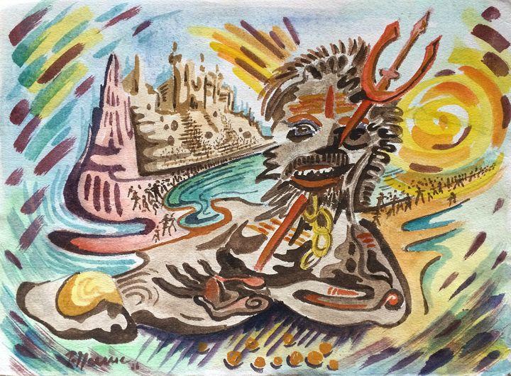 Shiva Baba in Benares - peter menne