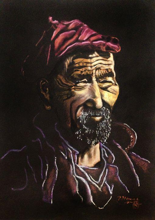 Tibetan man - peter menne