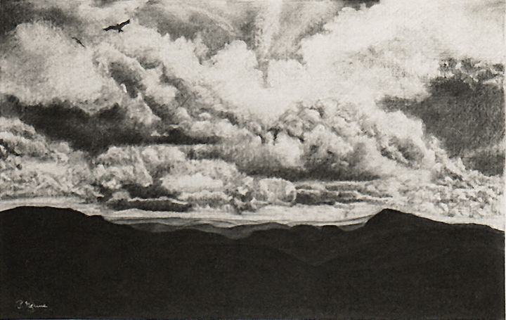 Landscape with Clouds - peter menne