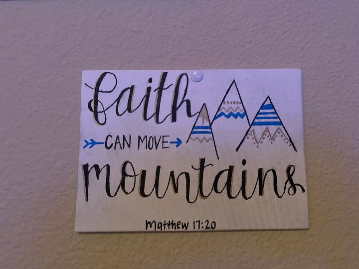 Bible Verse Quote Painting. - Simple Paintings for Home Decor