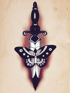 Butterfly and Dagger #2