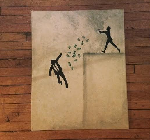 Falling For Money - Coco Chicago Art