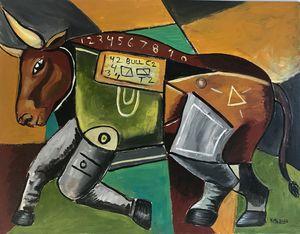 The Brave Bull #2 - Munguiafineart