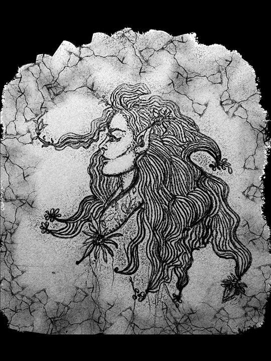 Elven woman - Nature Digital art