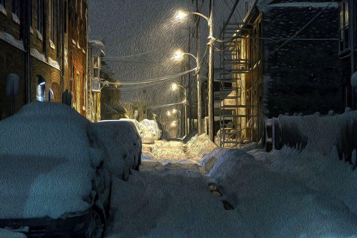 Snowy Alley - Christine Mitchell