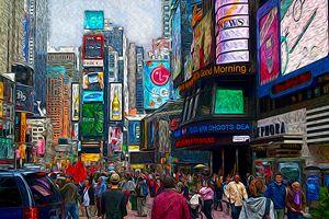 Times Square, NYC - Christine Mitchell