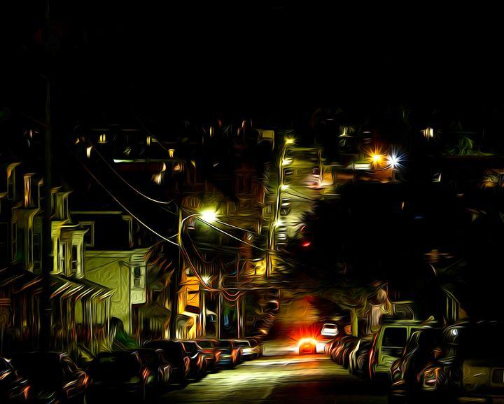 City Lights at Night - Christine Mitchell