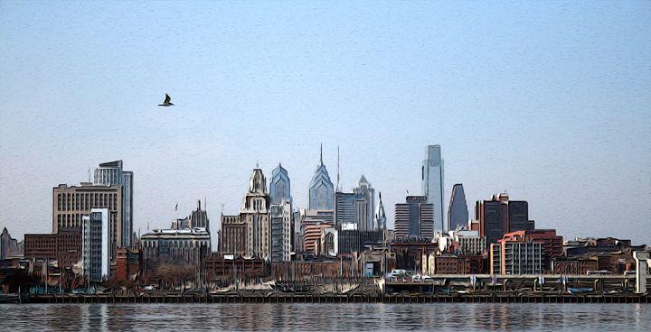 Philadelphia Skyline - Christine Mitchell