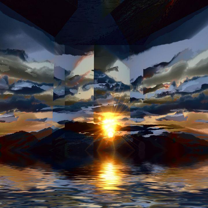 Sunset Storm reflection 2 - Elaine Hunter