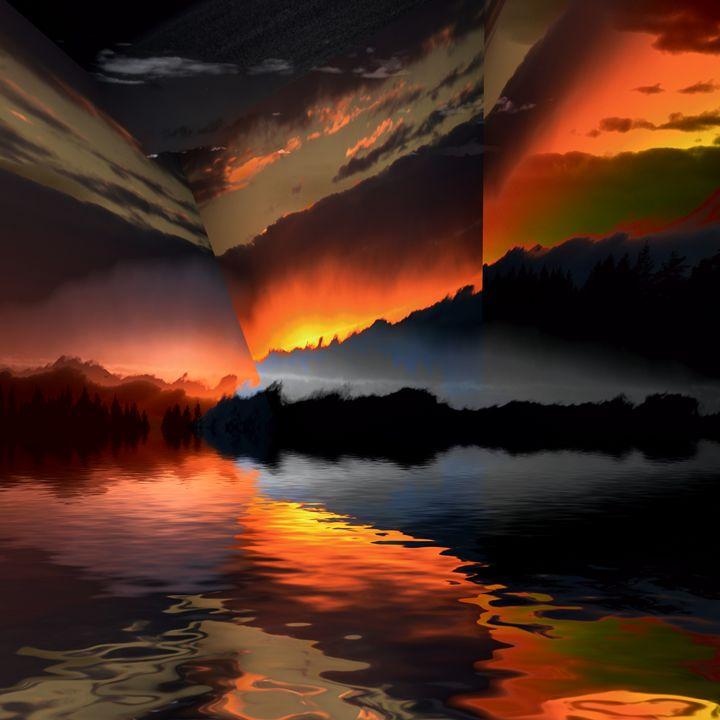 Sunset rays - Elaine Hunter