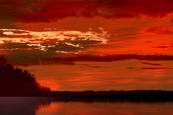 River Sunset - Elaine Hunter