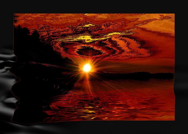 river sunset 2 - Elaine Hunter