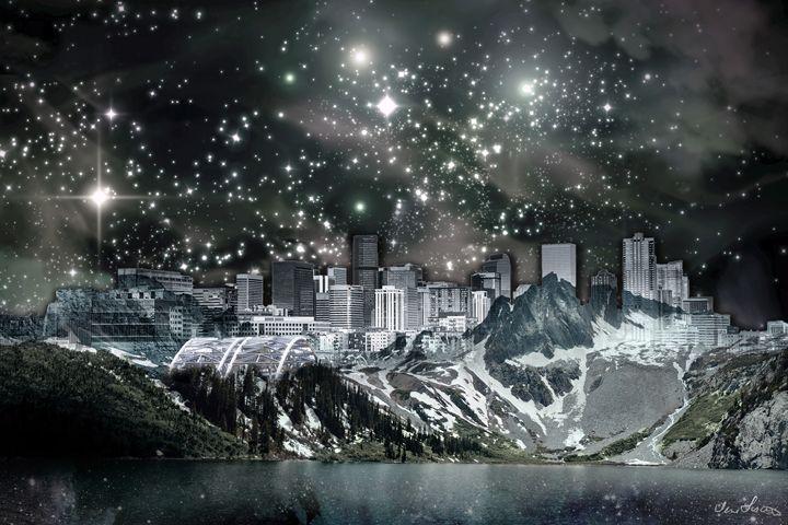 DENVER SKYLINE MOUNTAINS (TWILIGHT) - Inlighten Designs