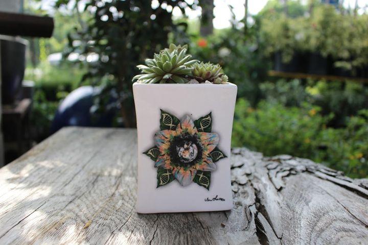 Ceramic Succulent Planter - Inlighten Designs