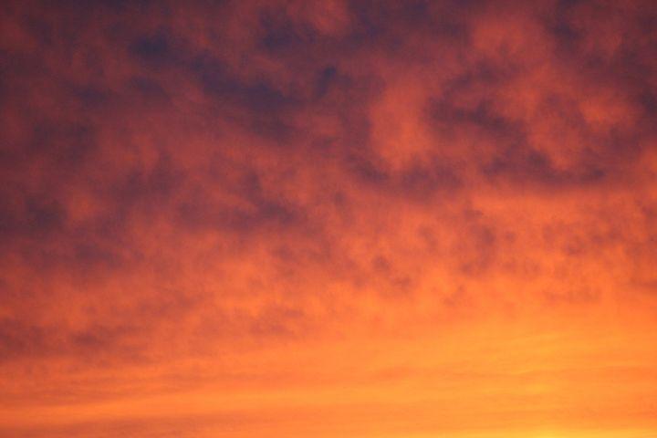 Flaming Clouds - Art KalleCat