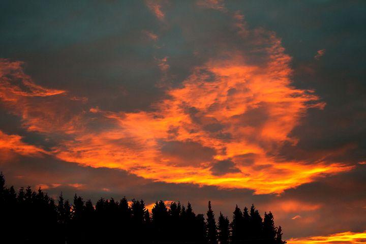 Fire Clouds - Art KalleCat