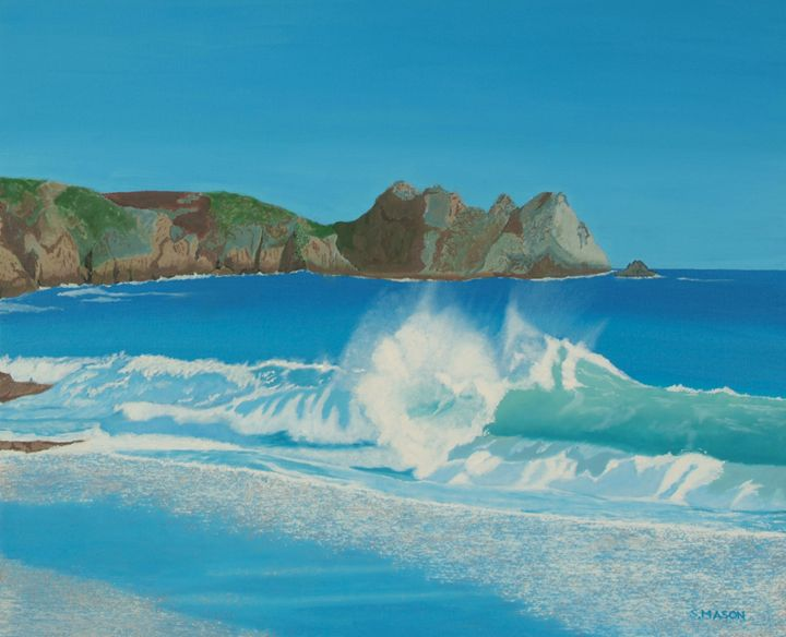 Porthcurno wave - beaches and sunsets