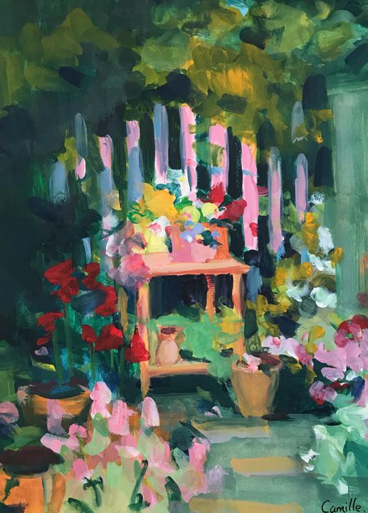 The afternoon garden - Camille Peng