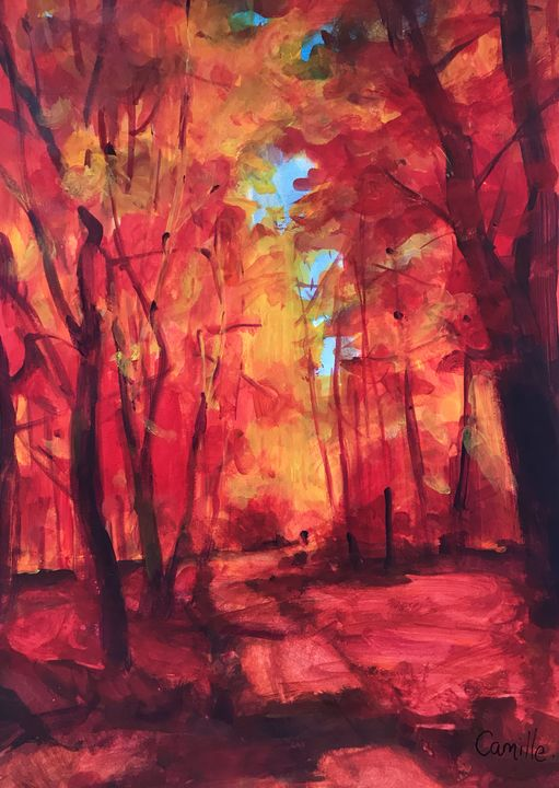 Fiery forest - Camille Peng