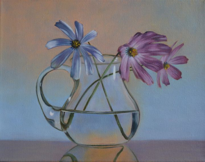 Flowers in Glass Pitcher - Kirk Kerndl