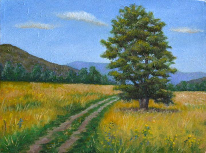 Yellow Field with Tree - Kirk Kerndl