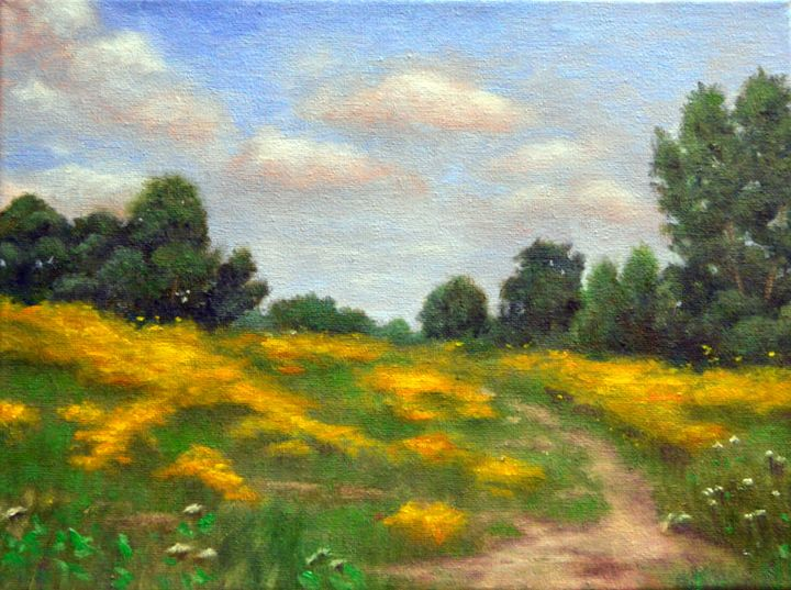 Yellow Flowers in Field - Kirk Kerndl