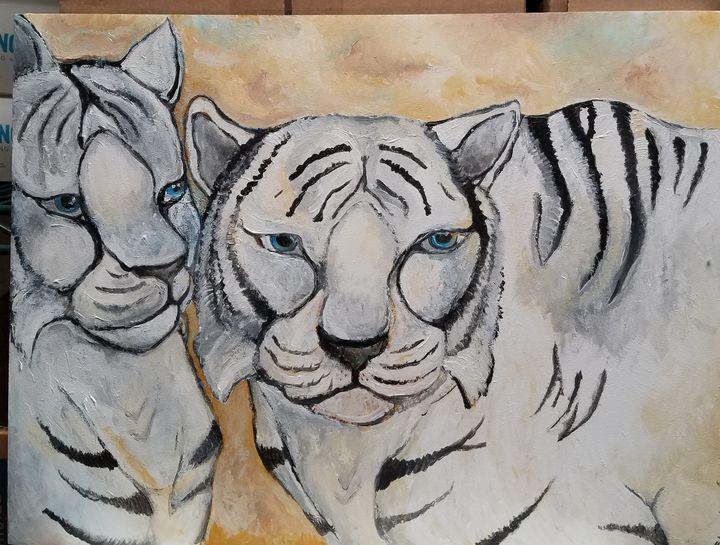 White tigers - Christine Canizaro