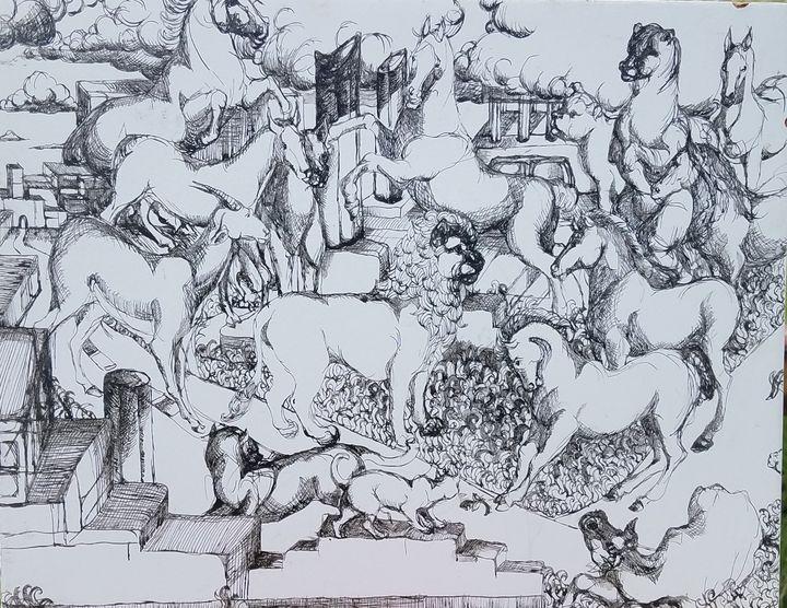 City ruins with animals - Christine Canizaro