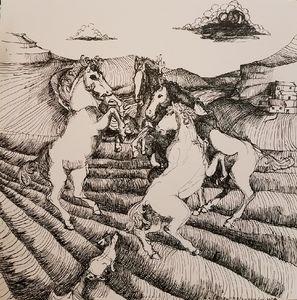 Fox and horses