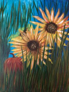 Sunflowers and Pumkin