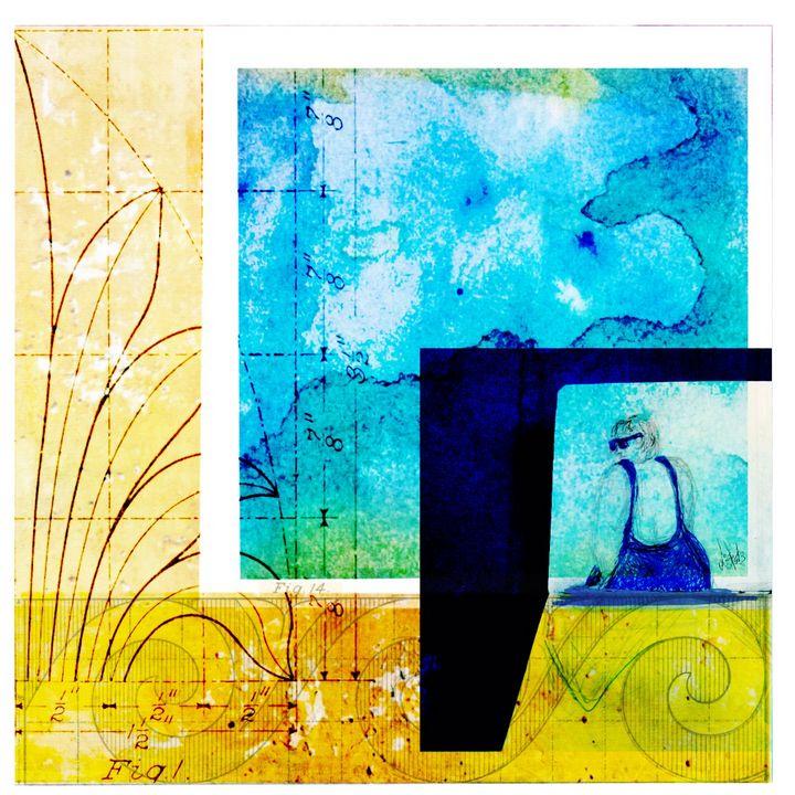 Algarve bather - Elizabeth Vitols art & design